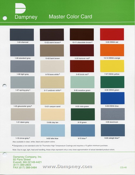 Industrial Color Card