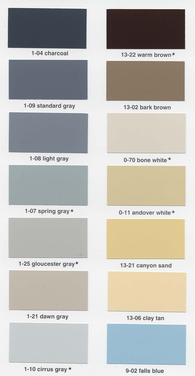Dampney Color Card